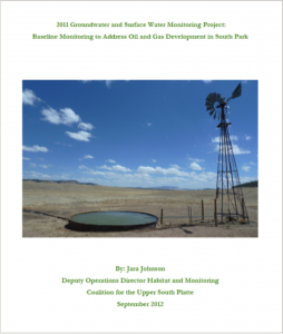2011 Groundwater and Surface Water Monitoring Project