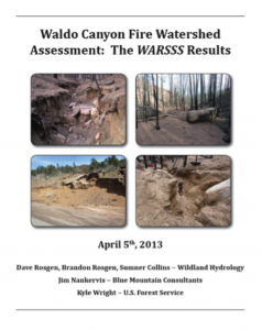 Waldo Canyon Fire Watershed Assessment