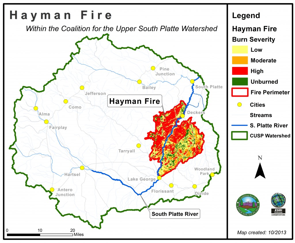 Fires Colorado Map.Hayman Fire Coalition For The Upper South Platte
