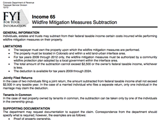Mitigation Tax Benefits