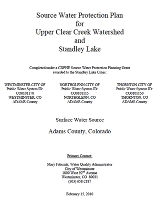 Standley Lake Source Water Protection Plan