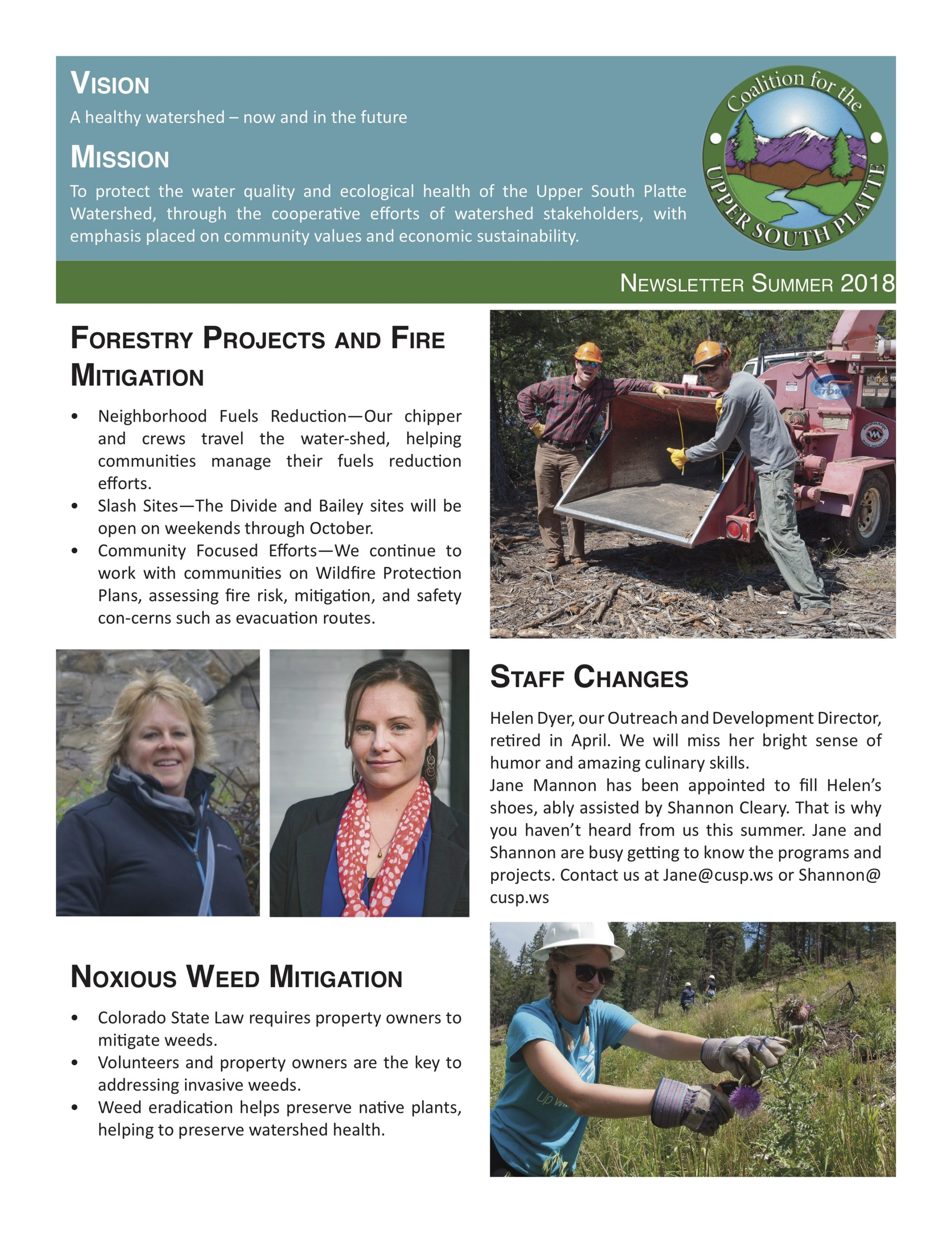 Newsletter second page- Summer 2018
