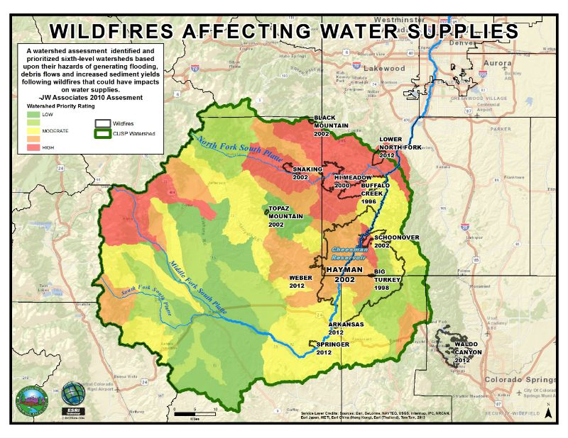 Understanding How Wildfires Would Affect Water Supplies In The Upper South Platte Watershed Helps Us Prioritize Forest Health Projects