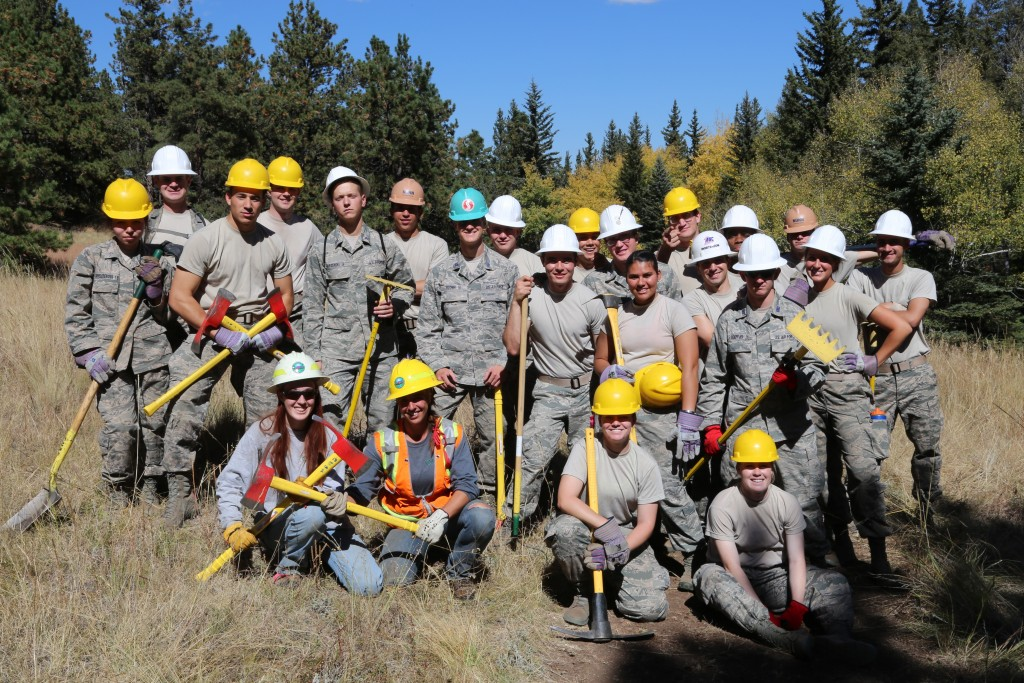Cadets improve trails at Florissant Fossil Beds National Monument