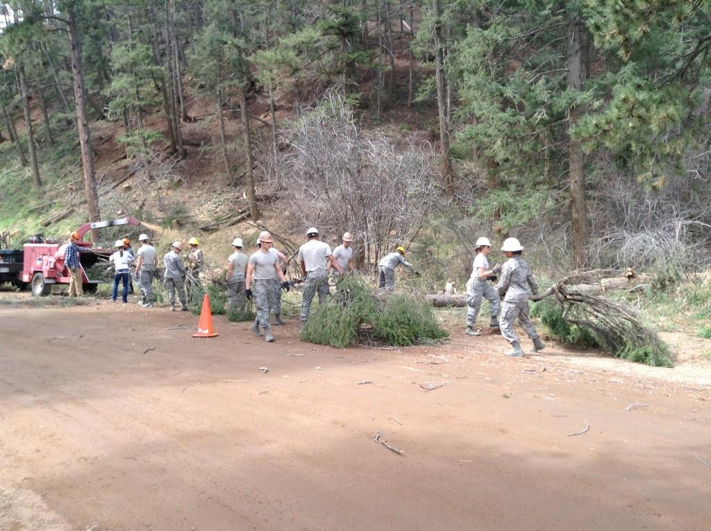 Cadets participate in Wildfire Preparedness Day in Palmer Lake